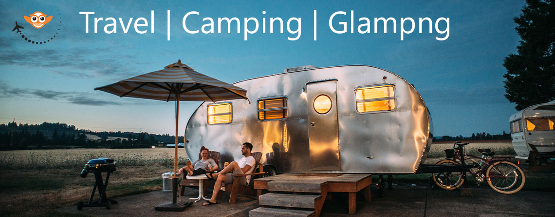 travel, camping or glampng